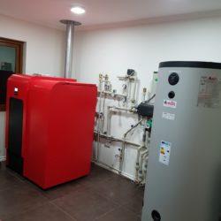 Calefacción y ACsS sistema a Pellets